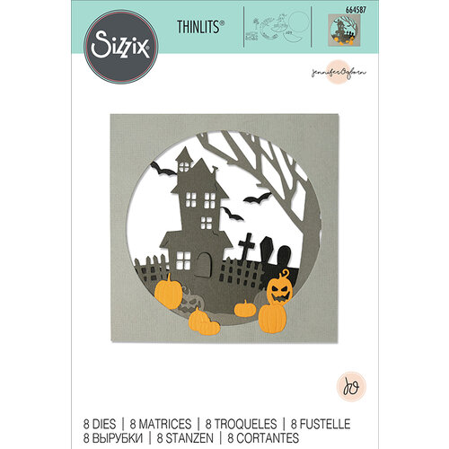 Sizzix - Halloween - Thinlits Die - Haunted Hills