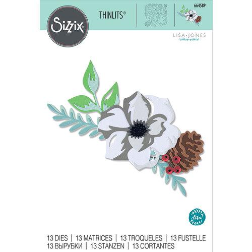 Sizzix - Thinlits Die - Layered Winter Flower