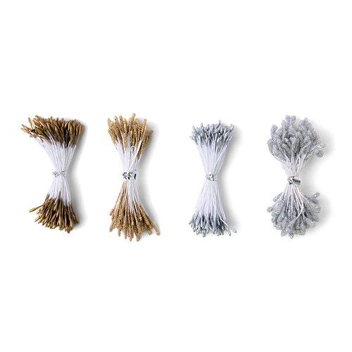 Sizzix - Making Essentials Collection - Flower Stamens - Metallic - 400 Pack