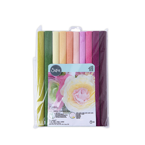 Sizzix - Flower Making Collection - Surfaces - 12 x 24 - Crepe Paper - 10 Pack - Vintage