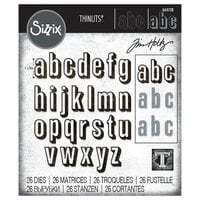 Sizzix - Tim Holtz - Thinlits Die - Alphanumeric Shadow Lower