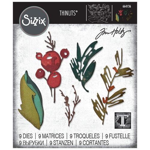 Sizzix - Tim Holtz - Thinlits Die - Holiday Brushstroke