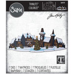 Sizzix - Christmas - Tim Holtz - Thinlits Die - Holiday Village Colorize