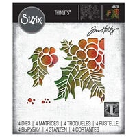 Sizzix - Christmas - Tim Holtz - Thinlits Die - Holly Pieces