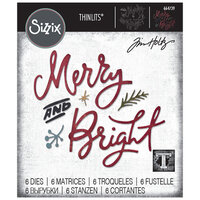 Sizzix - Christmas - Tim Holtz - Thinlits Die - Merry and Bright