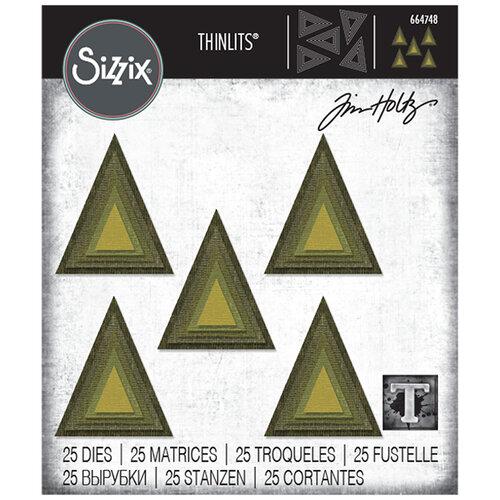 Sizzix - Tim Holtz - Thinlits Die - Stacked Tiles Triangles