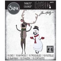 Sizzix - Christmas - Tim Holtz - Thinlits Die - Papercut Christmas No. 2 Colorize