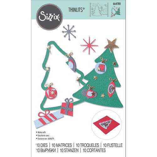 Sizzix - Christmas - Thinlits Die - Retro Tree