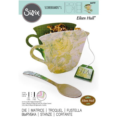 Sizzix - ScoreBoards L Die - Teacup and Spoon