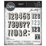 Sizzix - Tim Holtz - Thinlits Die - Alphanumeric Shadow Numbers