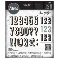 Sizzix - Tim Holtz - Thinlits Die - Alphanumeric Shadow Numbers