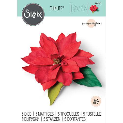 Sizzix - Christmas - Thinlits Die - Elegant Poinsettia