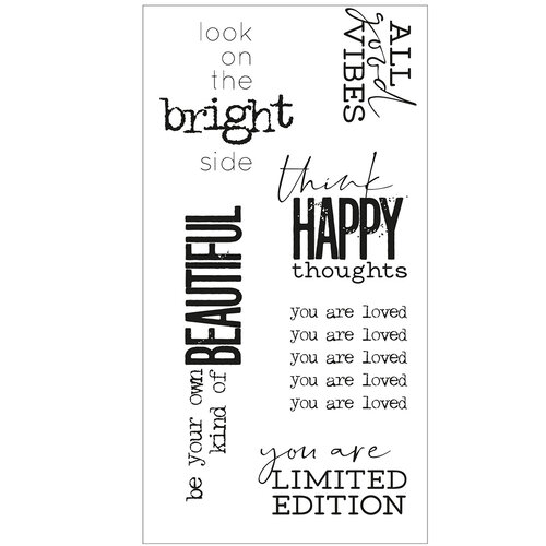 Sizzix - Clear Acrylic Stamps - Good Vibes Number 2