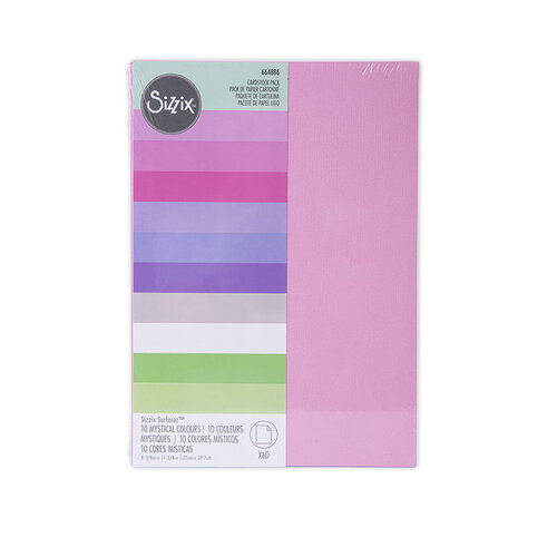 Sizzix - Mystical Collection - Surfacez - 8.25 x 11.75 Cardstock - 60 pack - Mystical Colors