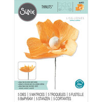 Sizzix - Flower Making Collection - Thinlits Dies - California Poppy
