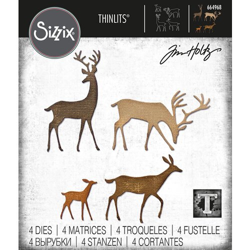 Sizzix - Tim Holtz - Thinlits Dies - Darling Deer