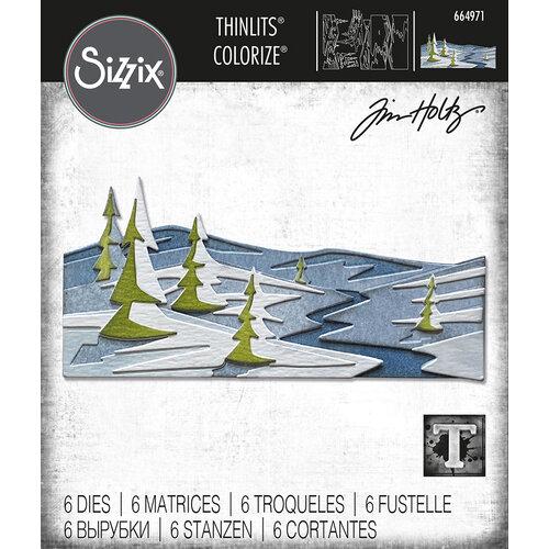 Sizzix - Tim Holtz - Thinlits Dies - Snowscape Colorize