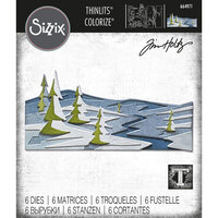 Sizzix - Tim Holtz - Thinlits Dies - Snowscape Colorize