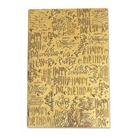 Sizzix - 3D Textured Impressions - Embossing Folders - Happy Birthday