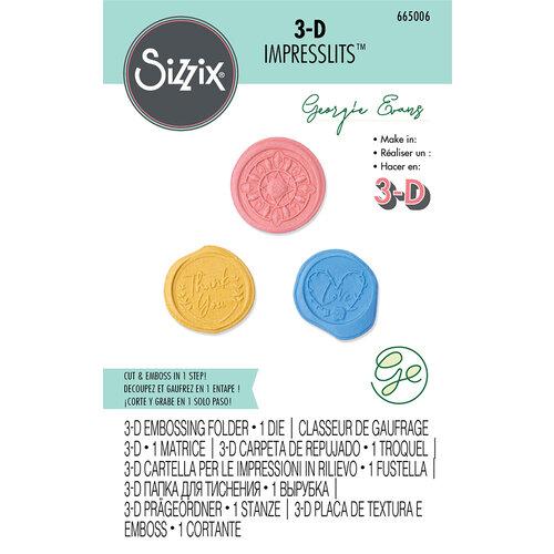 Sizzix - 3D Impresslits - Embossing Folder - Wax Seals
