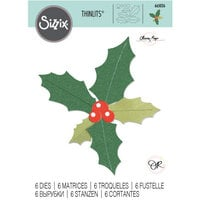 Sizzix - Christmas - Thinlits Die - Holly Leaves