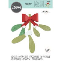 Sizzix - Christmas - Thinlits Die - Mistletoe Leaves