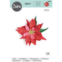 Sizzix - Christmas - Thinlits Die - Poinsettia Flower