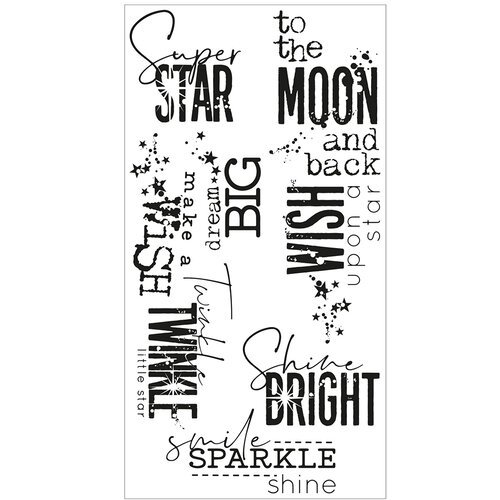 Sizzix - Clear Acrylic Stamps - Smile, Sparkle and Shine