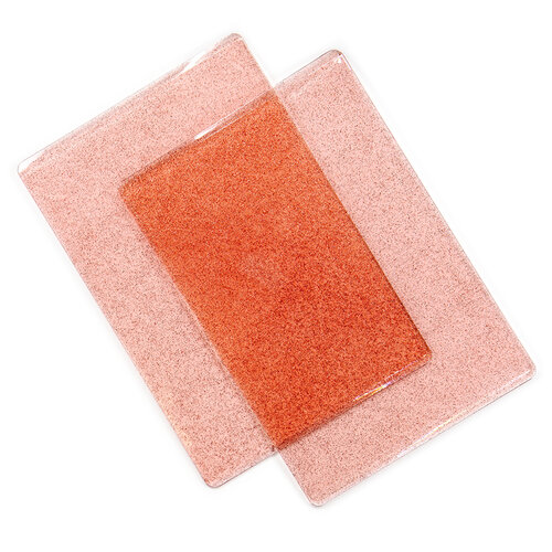 Sizzix - Cutting Pads - Standard - 1 Pair - Ballet Slipper Pink With Glitter
