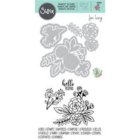 Sizzix - Framelits Dies with Clear Acrylic Stamp Set - Floral Bunch