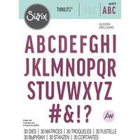 Sizzix - Thinlits Dies - Bold Alphabet