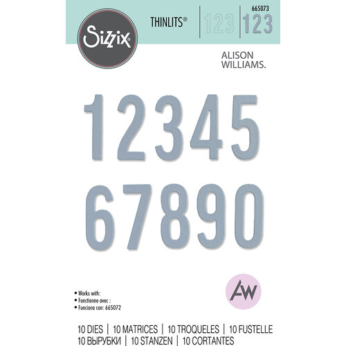 Sizzix - Thinlits Dies - Bold Numbers
