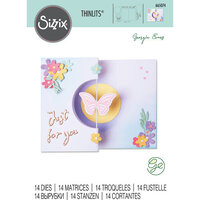 Sizzix - Thinlits Dies - Butterfly Spinner Card