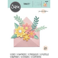 Sizzix - Thinlits Dies - Flowers with Envelope