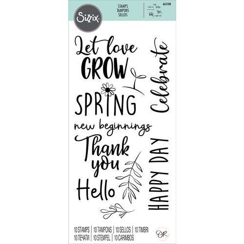 Sizzix - Clear Acrylic Stamps - New Beginnings