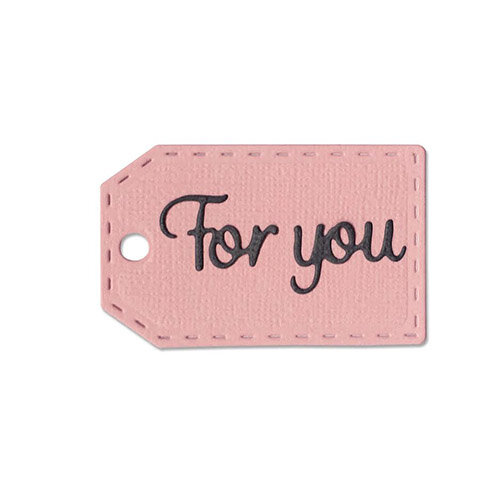 Sizzix - Thinlits Die - For You Tag