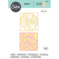 Sizzix - Thinlits Dies - Floral Card Fronts