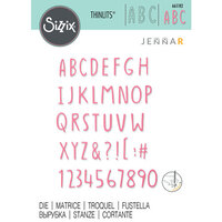 Sizzix - Thinlits Dies - Hand Drawn Alphabet