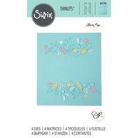 Sizzix - Thinlits Dies - Floral Borders