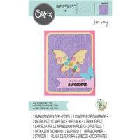 Sizzix - Impresslits Embossing Folder - Butterfly Meadow