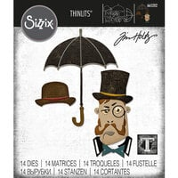 Sizzix - Tim Holtz - Thinlits Dies - The Gent