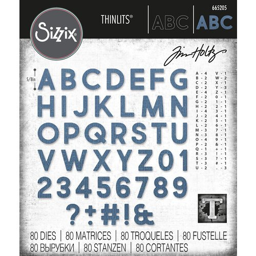 Sizzix - Tim Holtz - Thinlits Dies - Alphanumeric Bold