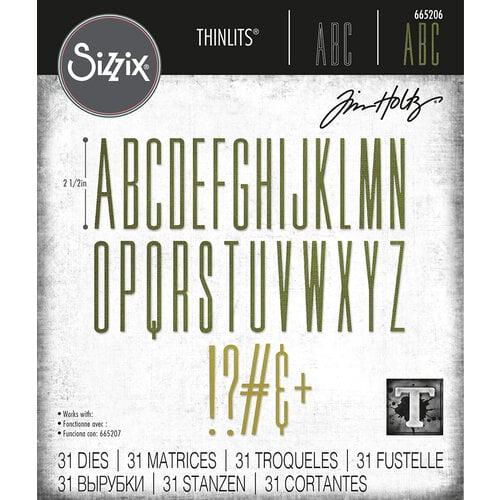 Sizzix - Tim Holtz - Thinlits Dies - Alphanumeric Stretch Upper