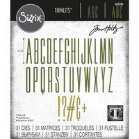 Sizzix - Tim Holtz - Thinlits Dies - Alphanumeric Stretch Upper