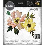 Sizzix - Tim Holtz - Thinlits Dies - Brushstroke Flowers 1