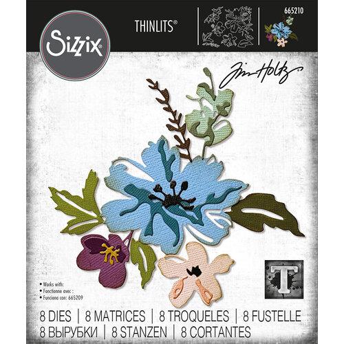 Sizzix - Tim Holtz - Thinlits Dies - Brushstroke Flowers 2