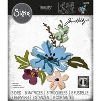 Sizzix - Tim Holtz - Thinlits Dies - Brushstroke Flowers 2