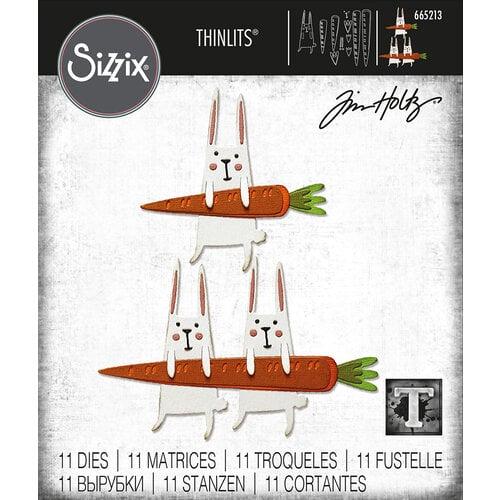 Sizzix - Tim Holtz - Thinlits Dies - Carrot Bunny