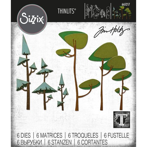 Sizzix - Tim Holtz - Thinlits Dies - Funky Trees