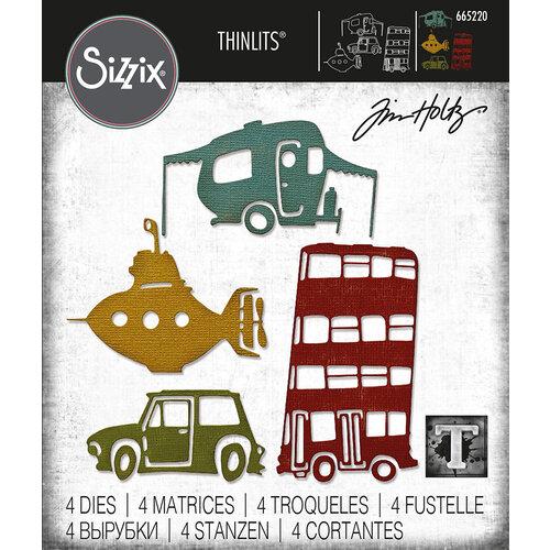 Sizzix - Tim Holtz - Thinlits Dies - Wacky Transport 1